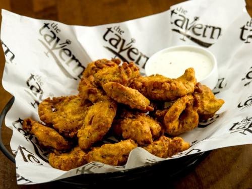 Beer Battered Crispy Baked Pickle Fries Recipe — Dishmaps